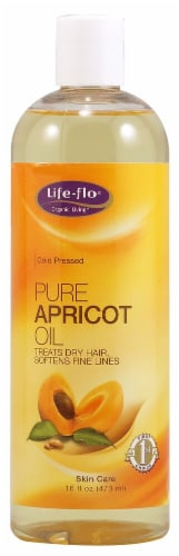 Life-Flo  Health Care Pure Apricot Oil Perspective: front