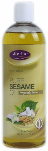 Life-Flo  Organic Pure Sesame Oil Perspective: front