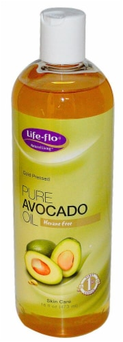 Life-Flo  Pure Avocado Oil Perspective: front