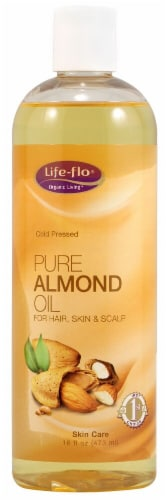Life-Flo  Pure Almond Oil Perspective: front
