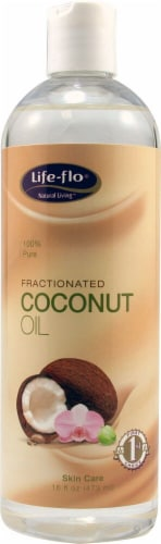Life-Flo  Fractionated Coconut Oil Perspective: front