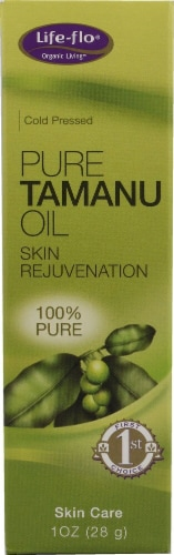 Life-Flo  Pure Tamanu Oil Perspective: front