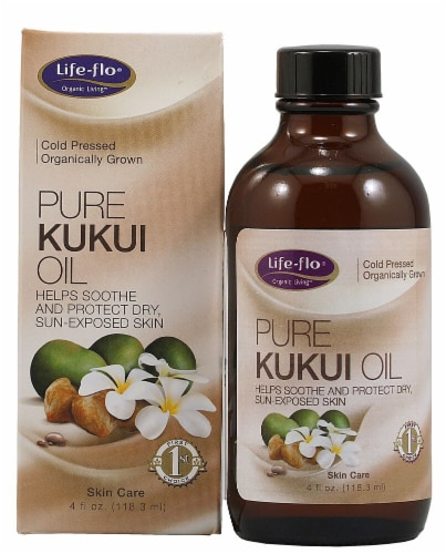 Life-Flo  Pure Kukui Oil Organic Perspective: front