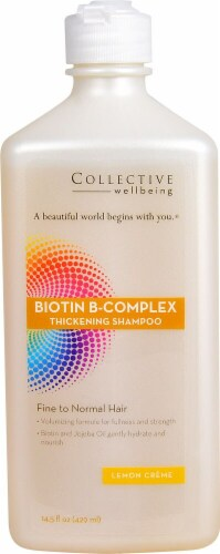 Life-Flo Collective Wellbeing Biotin B-Complex Lemon Creme Thickening Shampoo Perspective: front