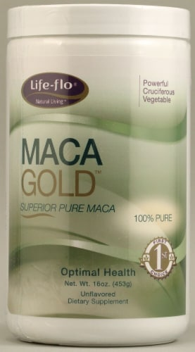 Life-Flo Maca Gold Pure Maca Unflavored Dietary Supplement Perspective: front