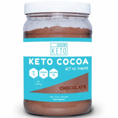 Kiss My Keto  MCT Powder   Chocolate Perspective: front