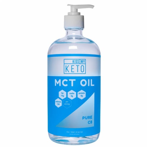 Kiss My Keto  MCT Oil Brain Fuel Pure Caprylic Acid C8   Unflavored Perspective: front