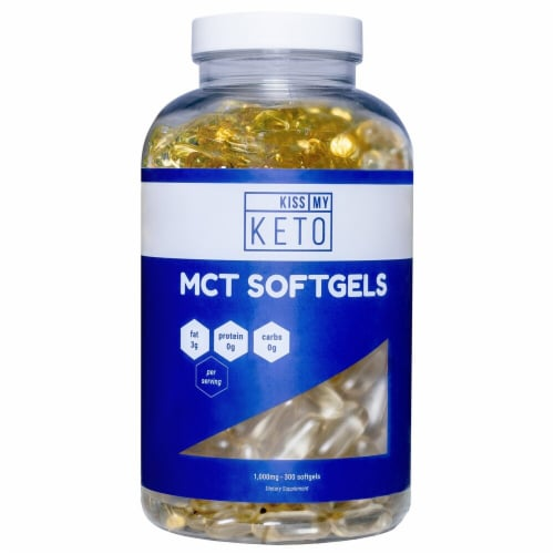 Kiss My Keto  MCT Oil Softgels 100% Coconut Perspective: front