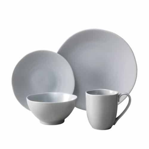 FORTESSA Heirloom Dinnerware Set - Smoke Perspective: front