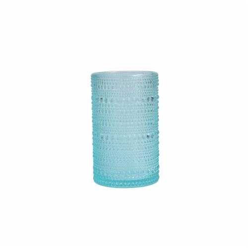 FORTESSA D&V Jupiter Iced Beverage Cocktail Glasses - 6 Pack - Pool Blue Perspective: front