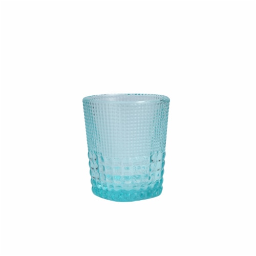 FORTESSA D&V Malcolm Double Old-Fashioned Beverage Glasses - 6 Pack - Pool Blue Perspective: front