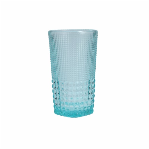 FORTESSA D&V Malcolm Iced Beverage Cocktail Glasses - 6 Pack - Pool Blue Perspective: front