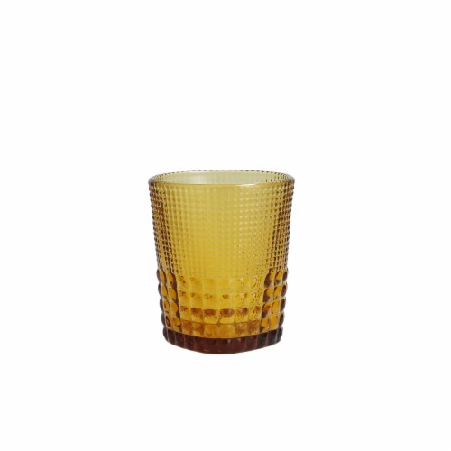 FORTESSA D&V Malcolm Double Old-Fashioned Beverage Glasses - 6 Pack - Amber Perspective: front