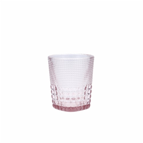 FORTESSA D&V Malcolm Double Old-Fashioned Beverage Glasses - 6 Pack - Pink Perspective: front