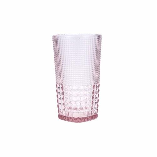 FORTESSA D&V Malcolm Iced Beverage Cocktail Glasses - 6 Pack - Pink Perspective: front