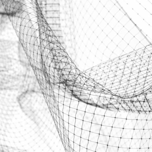 Aleko BN14X200BK-UNB 14 x 200 ft. Garden Crop Protective Netting Bird Repellent Net, Black Perspective: front