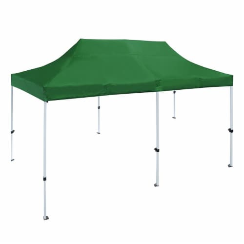 Aleko GZF10X20GR-UNB 10 x 20 ft. Gazebo Tent 420D Oxford Canopy Party Tent, Green Perspective: front