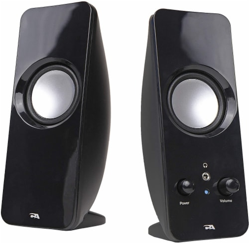 Cyber Acoustics Curve Sonic Powered Speaker System Perspective: front