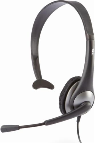 Cyber Acoustics Mono Headset with Y-Adapter - Black Perspective: front