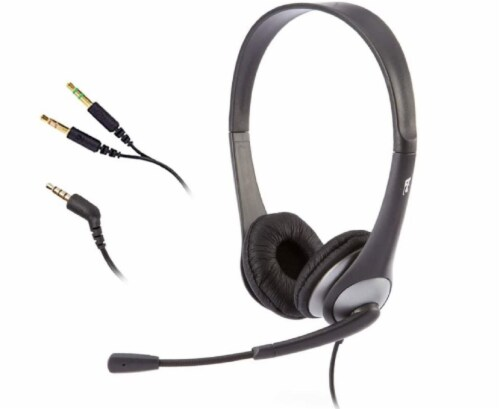 Cyber Acoustics Stereo Headset with Y-Adapter - Black Perspective: front