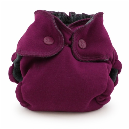 Ecoposh OBV Newborn AIO Fitted Cloth Diaper Boysenberry Perspective: front