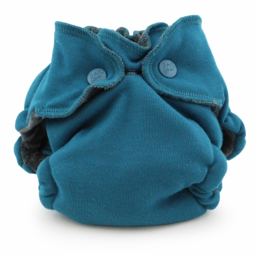 Ecoposh OBV Newborn AIO Fitted Cloth Diaper Caribbean Perspective: front