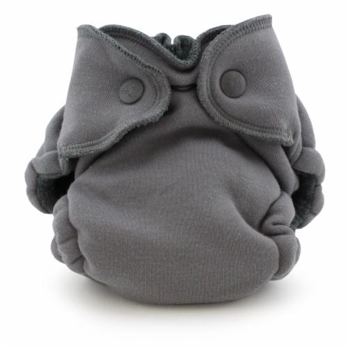 Ecoposh OBV Newborn AIO Fitted Cloth Diaper Glacier Perspective: front