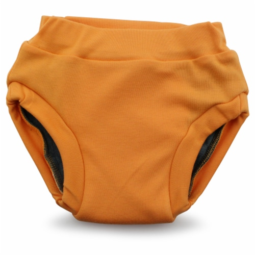 Ecoposh OBV Training Pants | Saffron (Yellow) Small 1T/2T Perspective: front