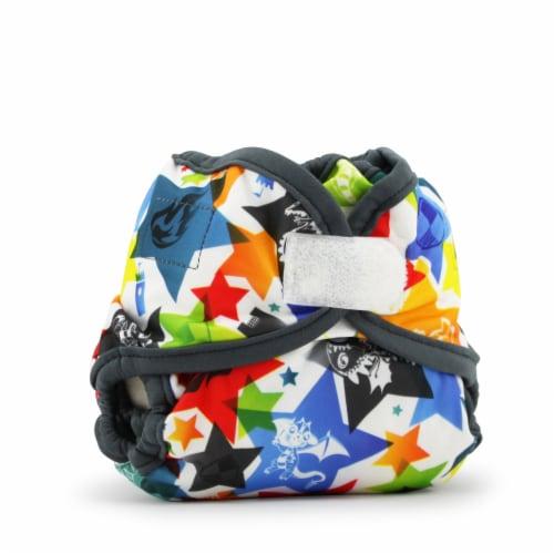 Kanga Care Rumparooz Newborn Reusable Cloth Diaper Cover Aplix Dragons Fly - Castle 4-15lbs Perspective: front