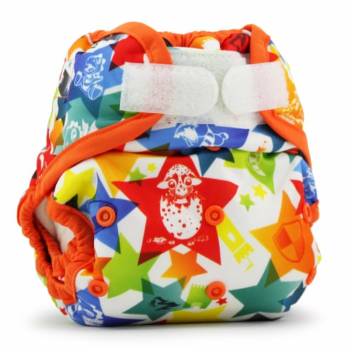 Kanga Care Rumparooz One Size Reusable Cloth Diaper Cover Aplix Dragons Fly - Poppy 6-35 lbs Perspective: front