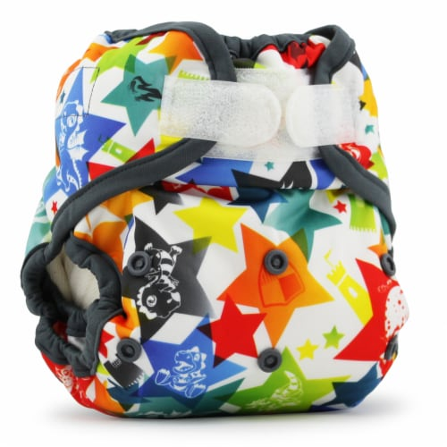 Kanga Care Rumparooz One Size Reusable Cloth Diaper Cover Aplix Dragons Fly - Castle 6-35 lbs Perspective: front
