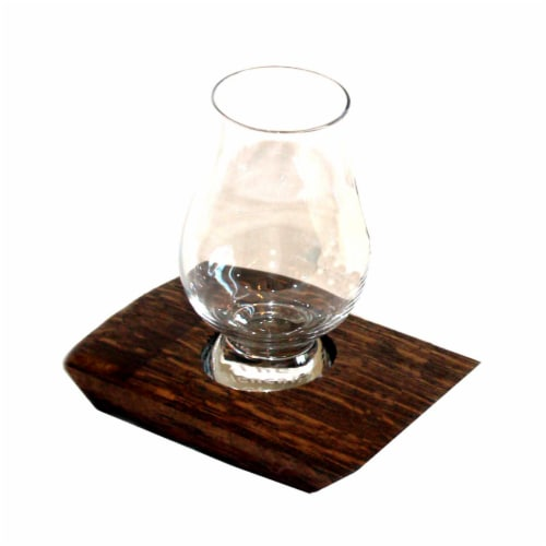 Barrel-Art Whiskey Coaster Glencairn Glass Perspective: front