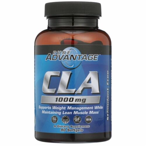 Pure Advantage CLA Conjugated Linoleic Acid Softgels 1000mg Perspective: front