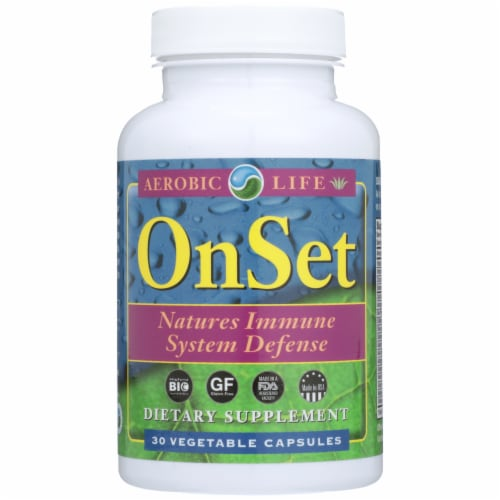 Aerobic Life OnSet Natures Immune System Defense Vegetable Capsules Perspective: front