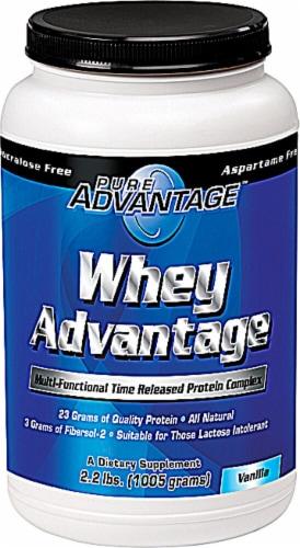 Pure Advantage  Whey Advantage Protein Powder   Vanilla Perspective: front