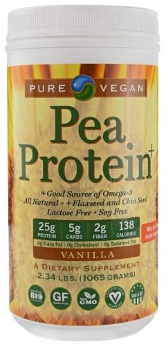Pure Vegan  Pea Protein +   Vanilla Perspective: front