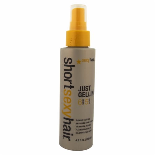 Short Sexy Hair Just Gelling Flexible Liquid Gel by Sexy Hair for Unisex - 4.2 oz Gel Perspective: front