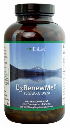E3Live E3RenewMe! Total Body Blend Supplement Capsules 800mg Perspective: front