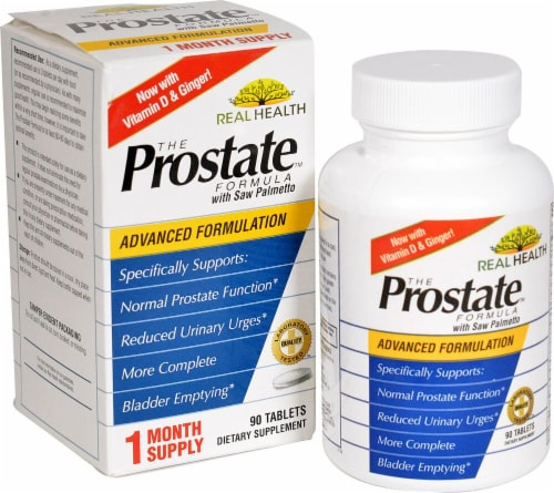 Real Health  Prostate Formula with Saw Palmetto Perspective: front