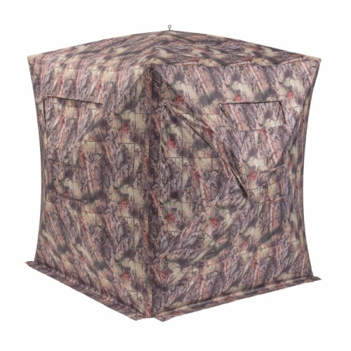 Native SHA-DR NATIVE GROUND BLINDS Shawnee Ground Blind (DRC) Perspective: front