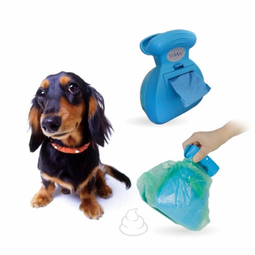 Grand Fusion Clean Hands Poop Scoop with Built-in Waste Bag Dispenser Perspective: front