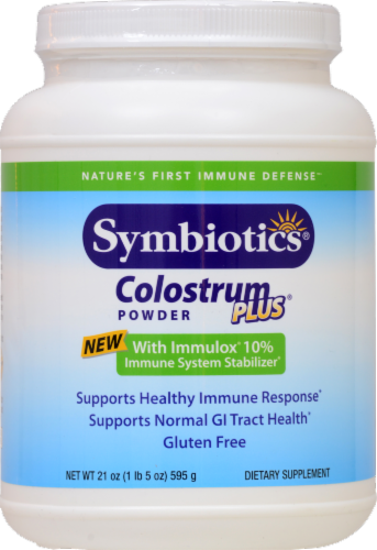Symbiotics  Colostrum Plus® Powder Perspective: front
