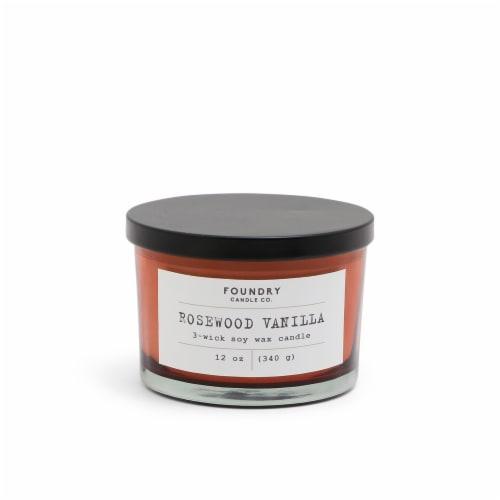 Foundry Candle Co. Scented Candle - Typewriter Rosewood Vanilla Perspective: front