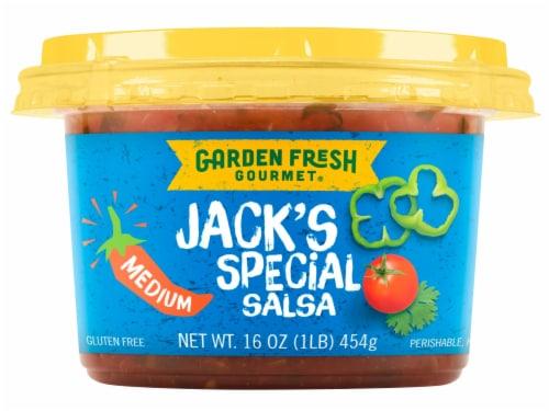 Garden Fresh Gourmet Jack's Special Medium Salsa Perspective: front