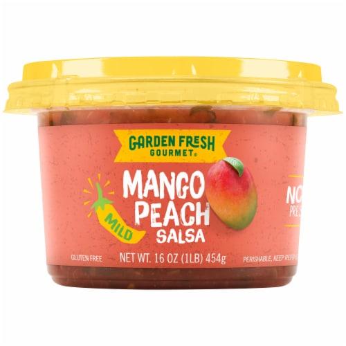 Garden Fresh Gourmet Mango Peach Salsa Perspective: front