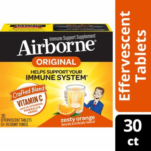 Airborne Zesty Orange Flavor Effervescent Tablets Perspective: front