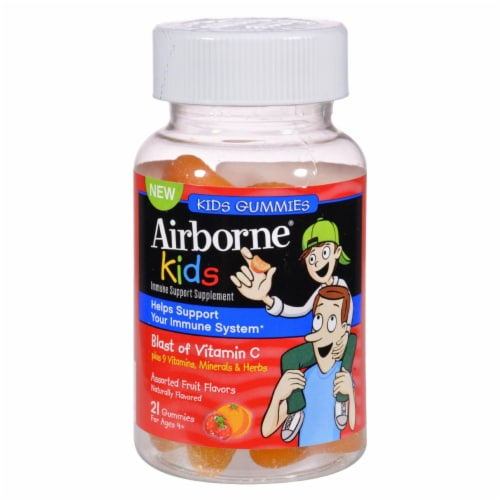 Airborne - Vitamin C Gummies for Kids - Fruit - 21 Count Perspective: front