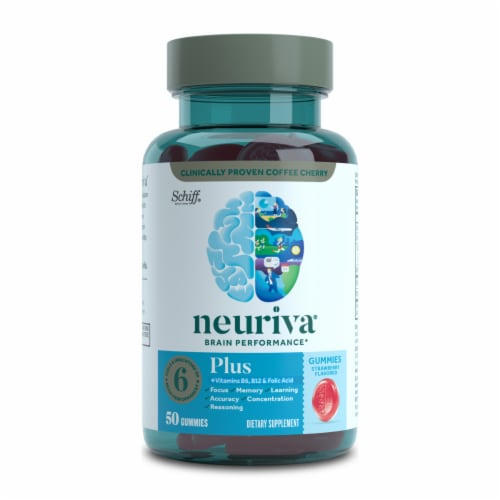 Neuriva Brain Performance Plus Strawberry Flavored Gummies Perspective: front