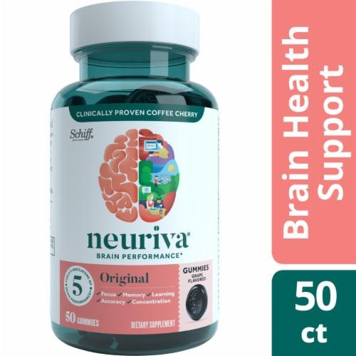 Neuriva Original Grape Flavored Brain Performance Gummies Perspective: front