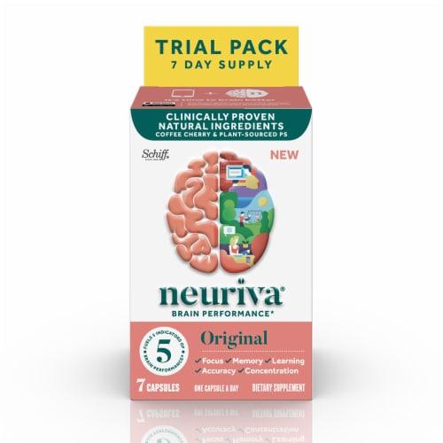 Neuriva Original Brain Performance Capsules 7 Count Perspective: front